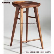 Kursi Bar Kayu KBM-02