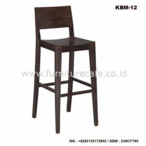 Kursi Bar Kayu Minimalis KBM-12