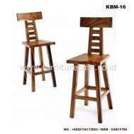 Kursi Bar Kayu KBM-16