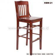 Kursi Bar Kayu KBM-21
