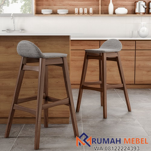 Kursi Bar Kayu Jati Model Minimalis