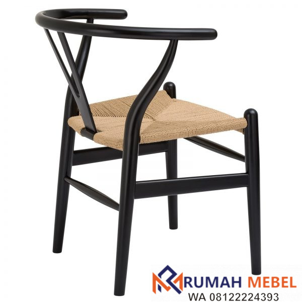 Kursi Cafe Wishbone Warna Hitam