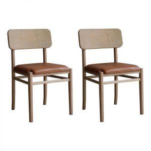 Desain Kursi Cafe Leather Seat